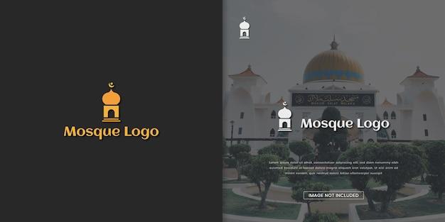 Moskee logo ontwerpsjabloon