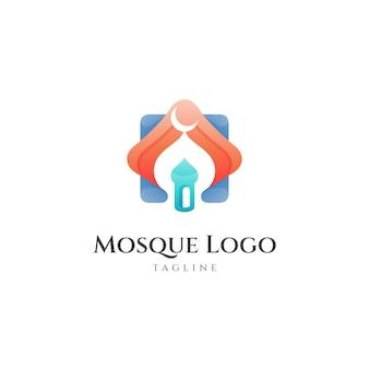 Moskee logo ontwerpsjabloon Premium Vector