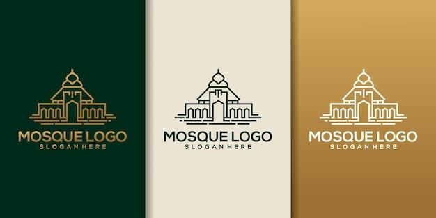 Moskee logo template design vector, embleem, conceptontwerp, creatief symbool