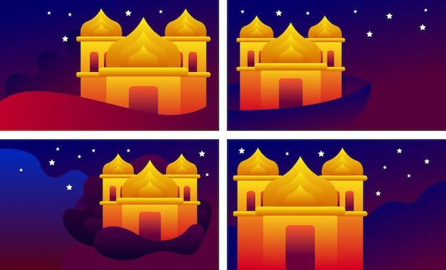 Moskee ontwerp. islamitische ramadan illustratie