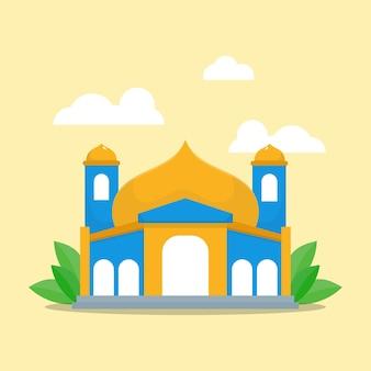 Moskee ontwerp vlakke afbeelding