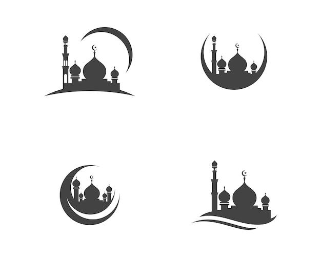 Moskee pictogram vector illustratie