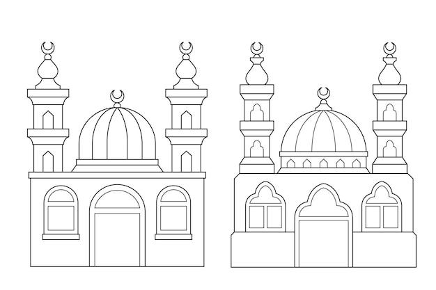 Moskeeën kleurplaat activiteit