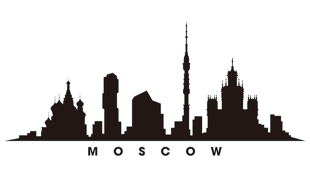 Moskou skyline silhouet vector