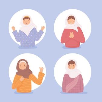 Moslim cartoon vrouwen