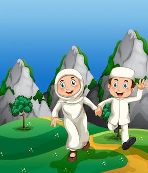 Moslim en park