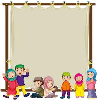 Moslim en teken