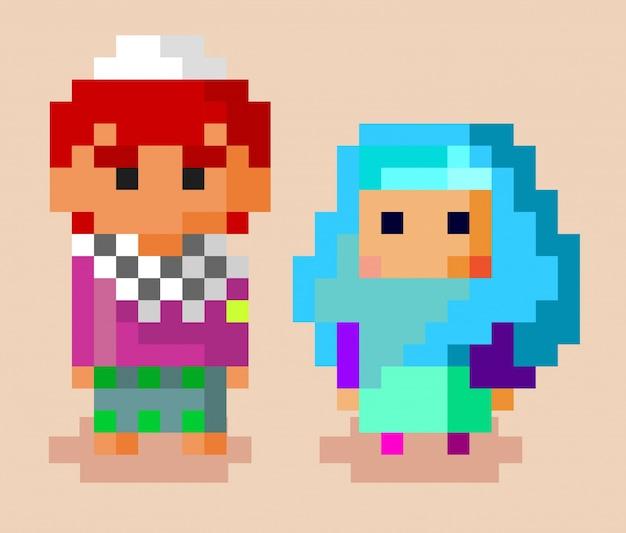 Moslim familie pixel