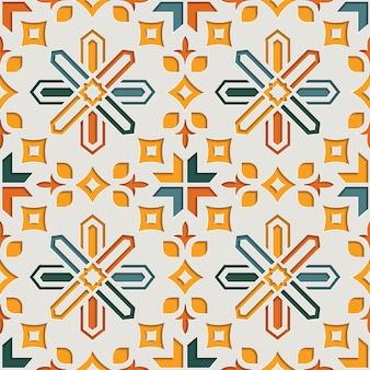 Moslim geometrisch abstract arabesque naadloos patroon voor ramadan kareem. oost-motief papier stijl achtergrond