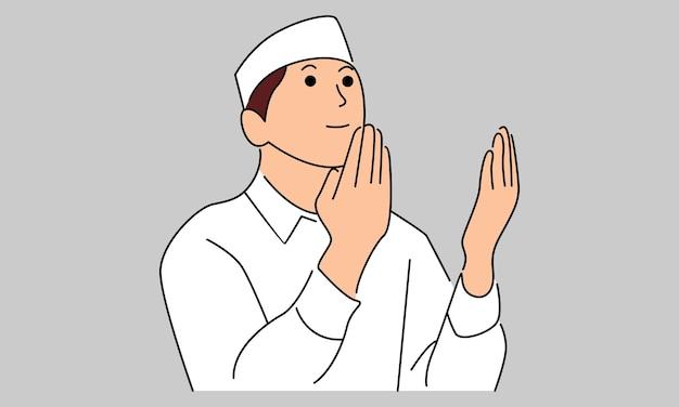 Moslim man bidt