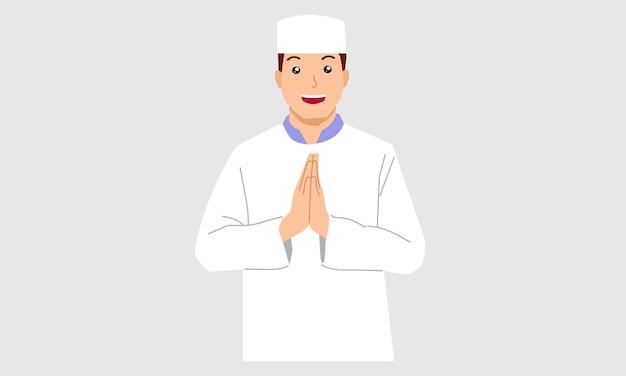 Moslim man karakter