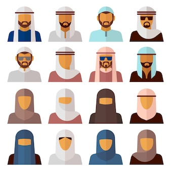 Moslim mensen pictogrammen
