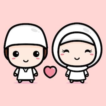 Moslim paar ontwerp