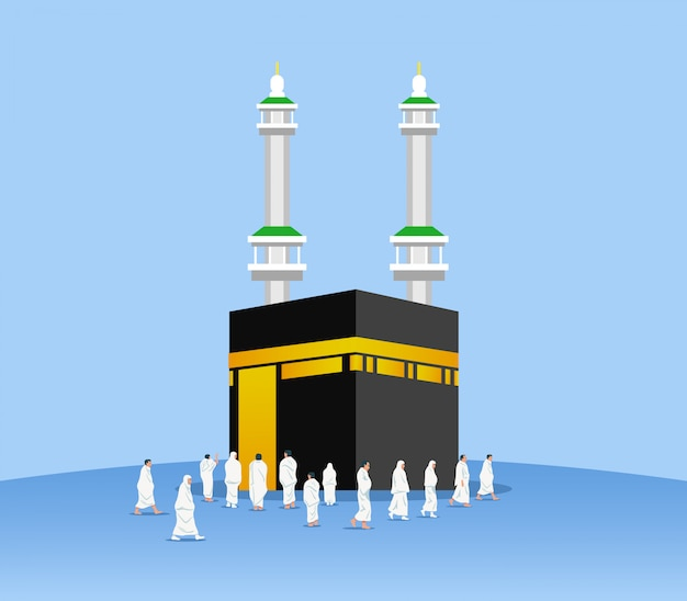 Moslim pelgrims rond kaaba