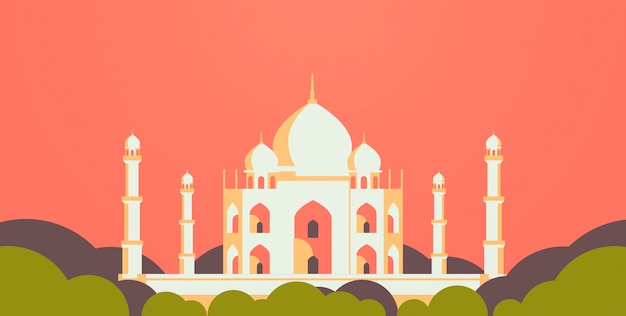 Moslim stadsgezicht moskee religie vlak horizontaal bouwen