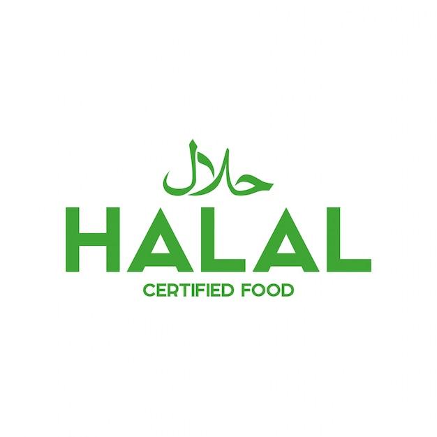 Moslim traditionele halal voedsel pictogram vector. badges, logo, tag en label. geschikt voor bann