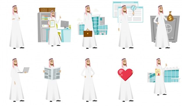 Moslim zakenman set