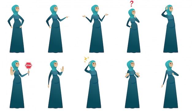 Moslim zwangere vrouwenset