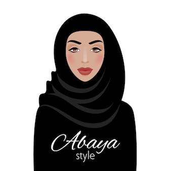 Moslimvrouw in hijab. mooie arabische dame. meisje in traditionele kleding.