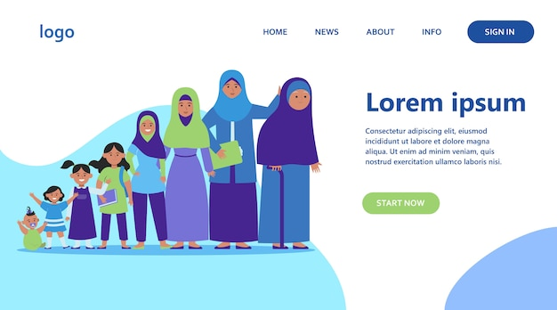 Moslimvrouw van verschillende leeftijden