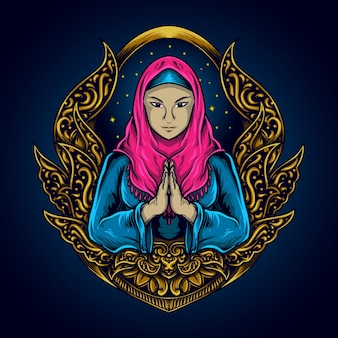 Moslimvrouw voor ramadan