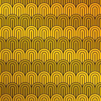 Mosterdgeel en zwart patroon