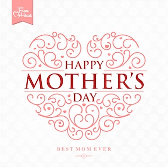 Mother's day achtergrond ontwerp