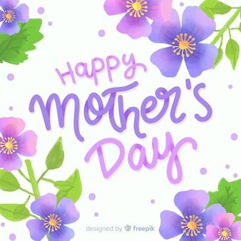 Mother's day aquarel bloemen achtergrond