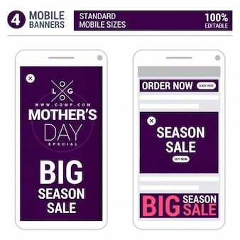 Mothers day big season sale mobile popup add