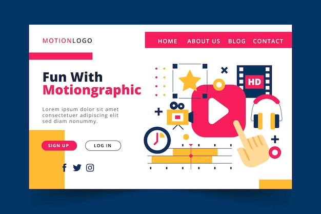 Motion graphics websjabloon