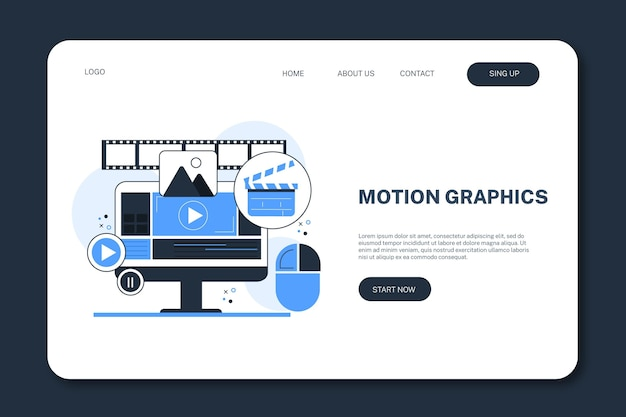 Motiongraphics-bestemmingspagina-sjabloon