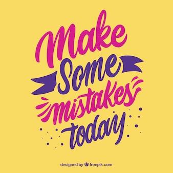 Motivatie citaat achtergrond in gele kleur
