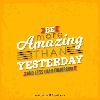 Motivatie citaat in gele kleur