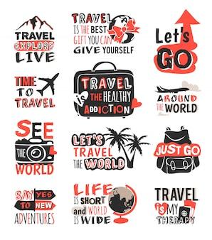 Motivatiebadge voor reizen.