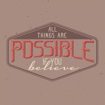 Motivationele poster. inspirerend citaatontwerp.