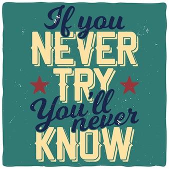 Motiverend citaat. inspirerend citaatontwerp.
