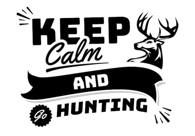 Motiverende handbelettering typografie citaat over jagen