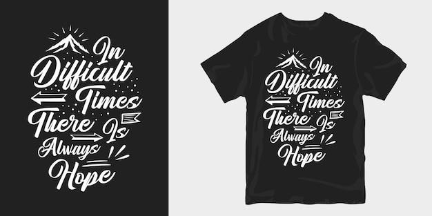Motiverende inspirerende slogan citaten gezegde typografie handgetekende belettering t-shirtontwerp
