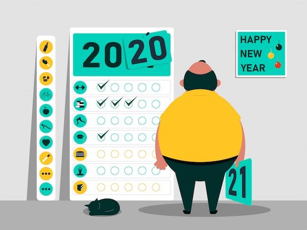 Motiverende kalender voor 2020 2021 nieuwjaar.
