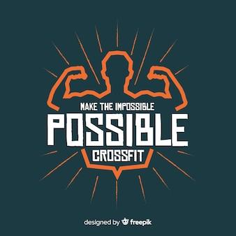 Motiverende letters: maak het onmogelijke mogelijk. crossfit