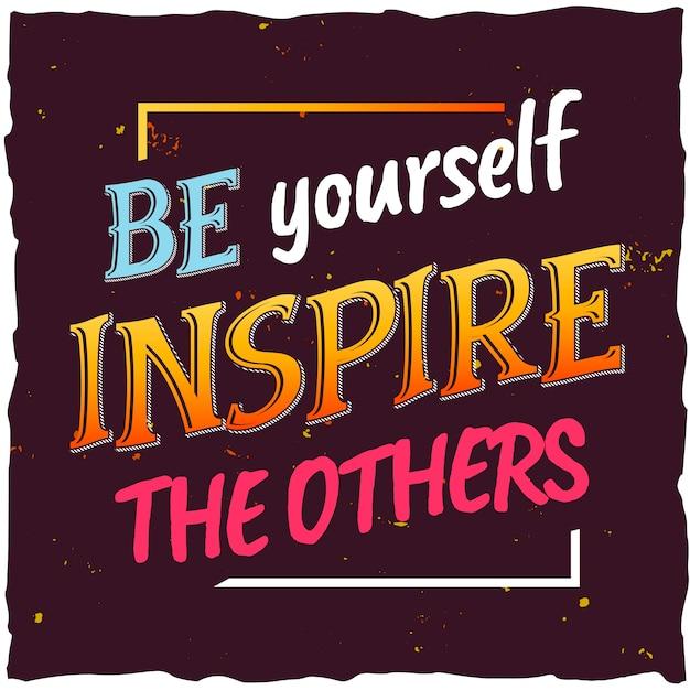 Motiverende poster. inspirerend citaatontwerp.