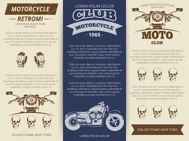 Moto club vintage brochure