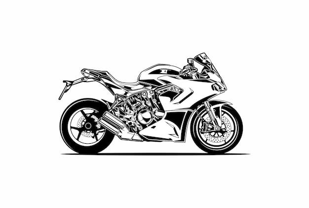 Moto fiets silhouet