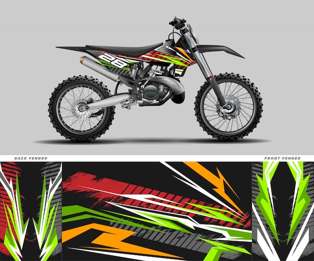 Motocross grafische sticker sticker kit