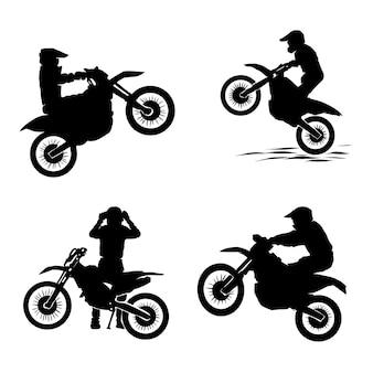 Motocross ingesteld logo ontwerpen