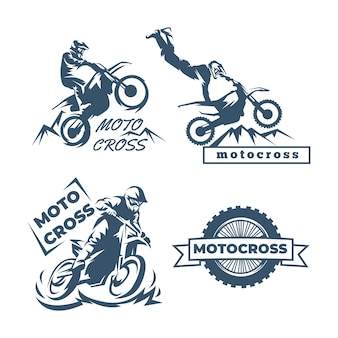 Motocross logo sjabloon collectie