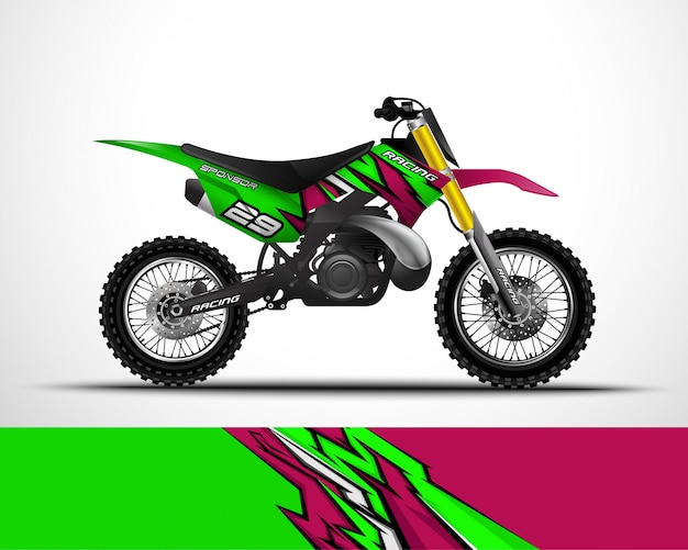 Motocross wrap ontwerp