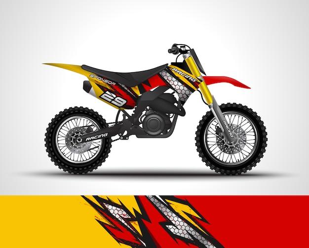Motocross wrap sticker en vinyl sticker illustratie.