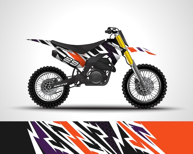 Motocross wrap sticker en vinyl sticker illustratie.