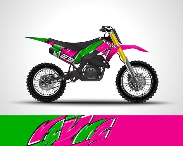 Motocross wrap sticker illustratie